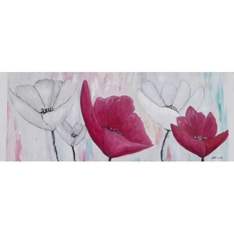 Cuadro flores 35x90 Altisent