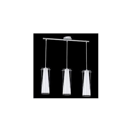 Lámpara techo 3 luces cristal cromo