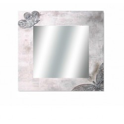 Espejo mariposas 80x80 marco lienzo