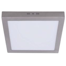 Plafón panel cuadrado níquel 24W