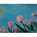 Cuadro cielo tulipanes 40x50 Altisent