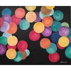 Cuadro bolas colores 50x60