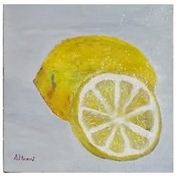 Cuadro fruta relieve 30x30