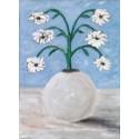 Cuadro jarrón flores abstracta 40x30 Altisent