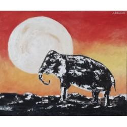 Cuadro elefante 40x50