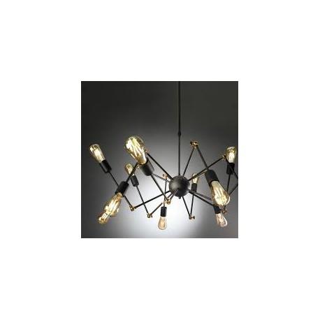 Lampara Atomic 12 luces Marron
