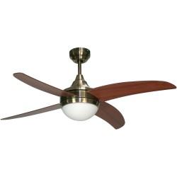 Ventilador Osiris cuero/nogal DC