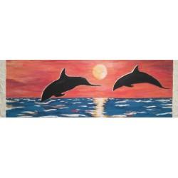 Cuadro delfines 50x150