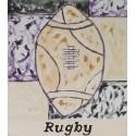 Cuadro balón rugby Altisent 40x35