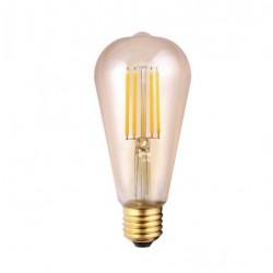 Bombilla led vintage G125 6,5W Ambar E27