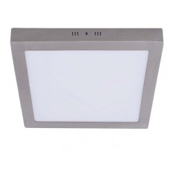 Plafón panel cuadrado níquel 18W