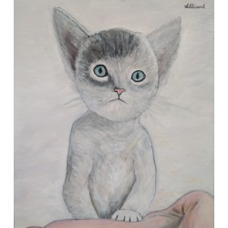 Cuadro gato sentado Altisent 40x35